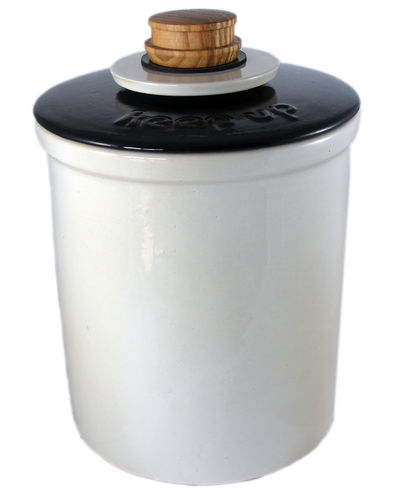 VINEGAR JAR KEEP UP WHITE/BLACK 3,5L